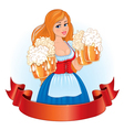 Beautiful girl with beer vector image vector image