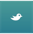 bird flat icon vector image