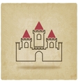 castle with towers symbol old background vector image