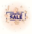 christmas sale poster for layout and template vector image