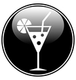 Cocktail glass icon vector image vector image