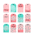 Collection of cute gift tag vector image vector image