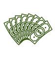concept of fan dollar bill vector image