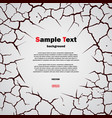 cracks circle with text vector image vector image