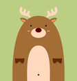 cute fat big deer vector image vector image