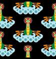 dragon boat seamless pattern vector image vector image