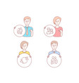 employee user communication and couple icons vector image vector image