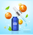essencial oil moisturizing cosmetic products ad vector image vector image