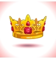 Fancy cartoon golden crown vector image