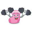 fitness sock character cartoon style vector image