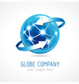 globe company logo connecting vector image
