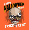 halloween party invitation or greeting card web vector image vector image
