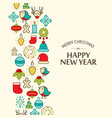 happy new year celebrating template vector image