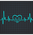 Heartbeat make family and heart symbol vector image vector image