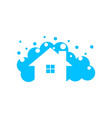 home cleaning logo vector image vector image
