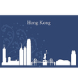 Hong Kong city skyline on blue backgrou vector image vector image