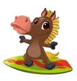 Horse with surf vector image