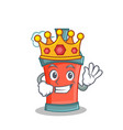 king aerosol spray can character cartoon vector image vector image