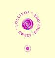 lollipop boutique logo sweets shop emblem vector image vector image