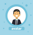 man avatar caucasian businessman profile icon vector image vector image