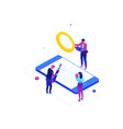 mobile repair service - modern colorful isometric vector image vector image