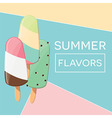 Modern typographic summer poster design vector image vector image