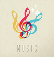 Music concept musical note audio icon color design vector image vector image
