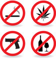 No sign prohibited vector image