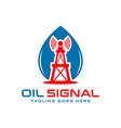 oil mine signal logo vector image