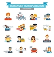 Passenger Transportation Icon Flat vector image vector image