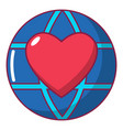 planet heart icon cartoon style vector image vector image