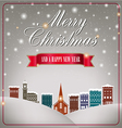 Quaint Christmas village vector image vector image