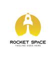 rocket logo concept creative minimal design vector image vector image