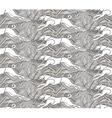 Running Basenji seamless pattern vector image vector image