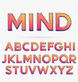 scribble style alphabet font vector image