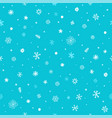 seamless pattern different winter snowflakes vector image vector image