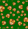 seamless pattern of the lion s head vector image vector image