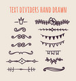set of hand drawn text dividers isolated on light vector image vector image