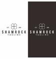 shamrock leaf logo green clover lucky vector image vector image