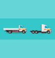 small commercial vehicle mini cargo truck or vector image