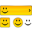 Smiley button set vector image vector image