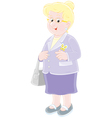 Smiling elderly lady vector image vector image