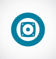 speaker icon bold blue circle border vector image vector image
