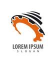 storm gear industrial logo concept design symbol vector image vector image