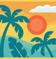 summer vacation paradise - concept background vector image vector image