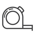 tape measure line icon build and repair vector image