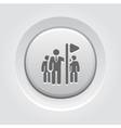 Team Leader Icon Grey Button Design vector image vector image