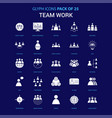 team work white icon over blue background 25 icon vector image