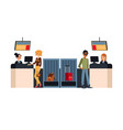 travel flight check in counters in airport vector image
