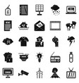 tv show icons set simple style vector image